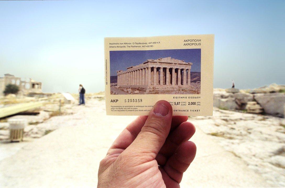Bilet wstępu na Akropol w Atenach