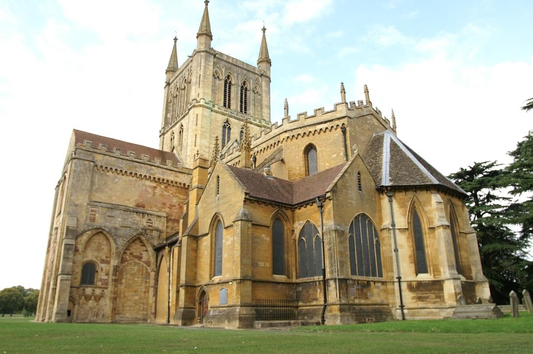 Pershore Abbey, urocze miejsce.