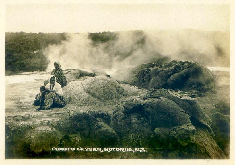 Gejzer Pohutu około 1880 r.