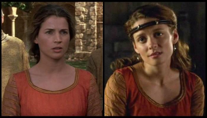 """Prezentowana tunika (nie bijcie mnie, nie rozróżniam sukienki od spódnicy) została użyta w dwóch filmach arturiańskich:. Po lewej Julia Ormond w """"Pierwszym rycerzu"""" (1995), a obok Jean Chorostecki w serialu """"Camelot"""" z 2011 roku."""