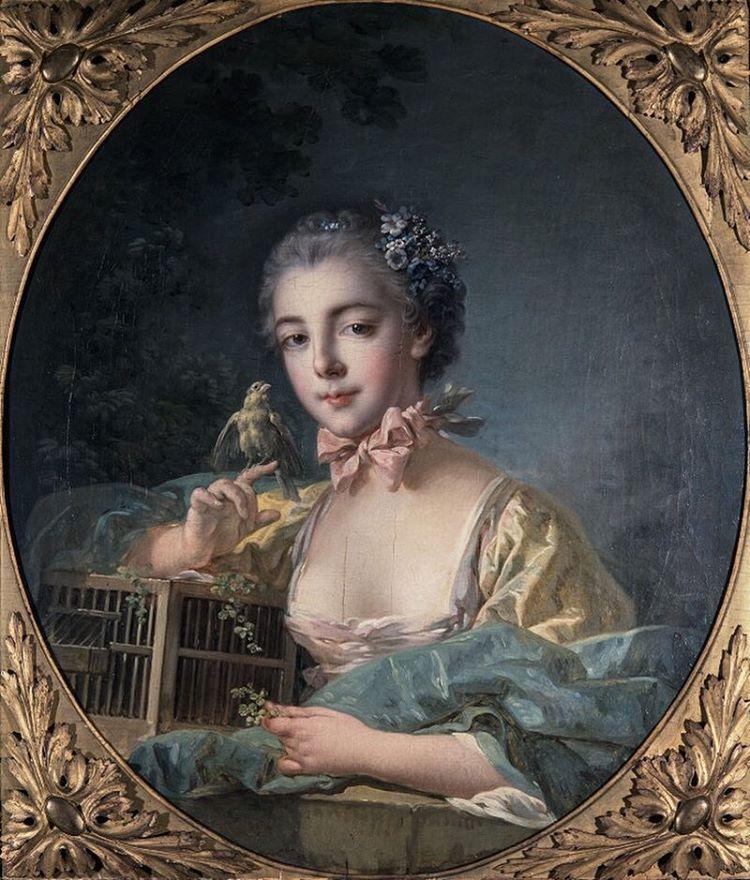François Boucher (1703-1770). Portrait présumé de Marie-Emilie Baudouin, fille du peintre. Huile sur toile, entre 1758 et 1760. Paris, musée Cognacq- Jay. © Musée Cognacq-Jay / Roger-Viollet