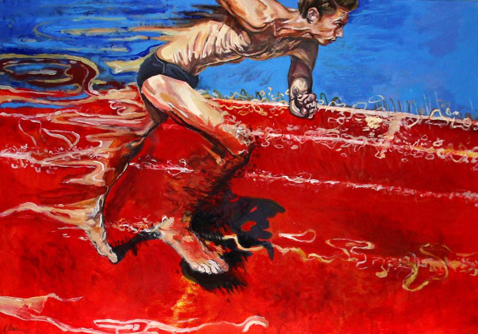 Dla odmiany Biegacz Anny Jachimczyk, akryl na płótnie, 2012 rok