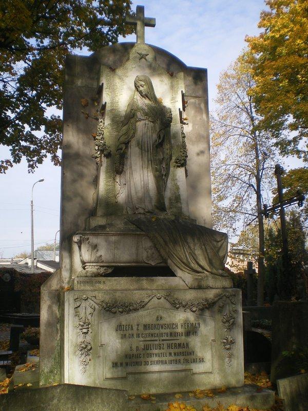 Nagrobek rodziny Hermanów, Stare Powązki (fot. Harsz)