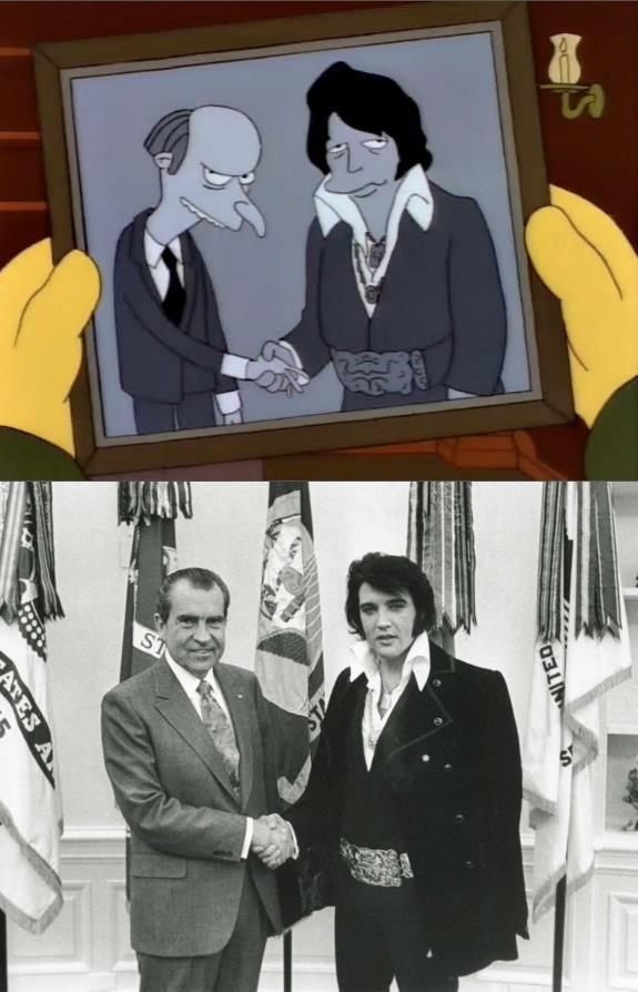 Richard Nixon spotyka Elvisa Presleya