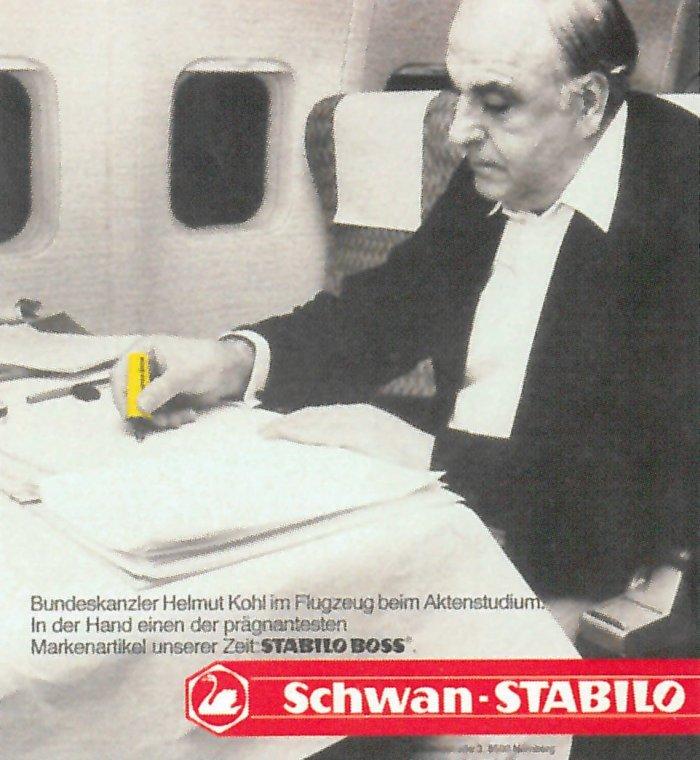 Fakt, że BOSSa używał premier rządu Nadrenii-Palatynatu, a następnie kanclerz RFN Helmut Kohl bardzo przydawał się do promocji produktu.