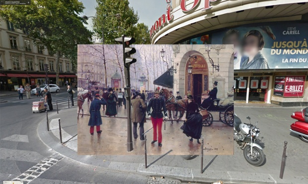 Le boulevard des Capucines devant le théâtre du Vaudeville, Paryż1889, Jean Béraud