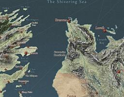 Gdyby świat Gry o tron istniał naprawdę, czyli mapa Westeros i okolic z Pieśni lodu i ognia