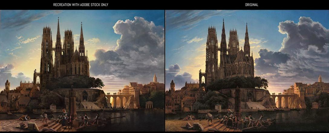 Po lewej przeróbka autorstwa Mike'a Campau, po prawej oryginał