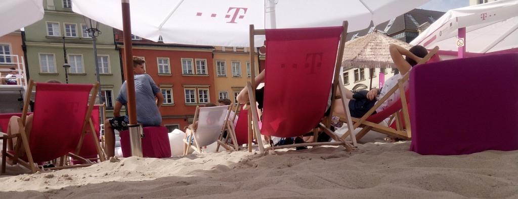 Plaży z widokiem na rynek z pewnością nie zapomnę.