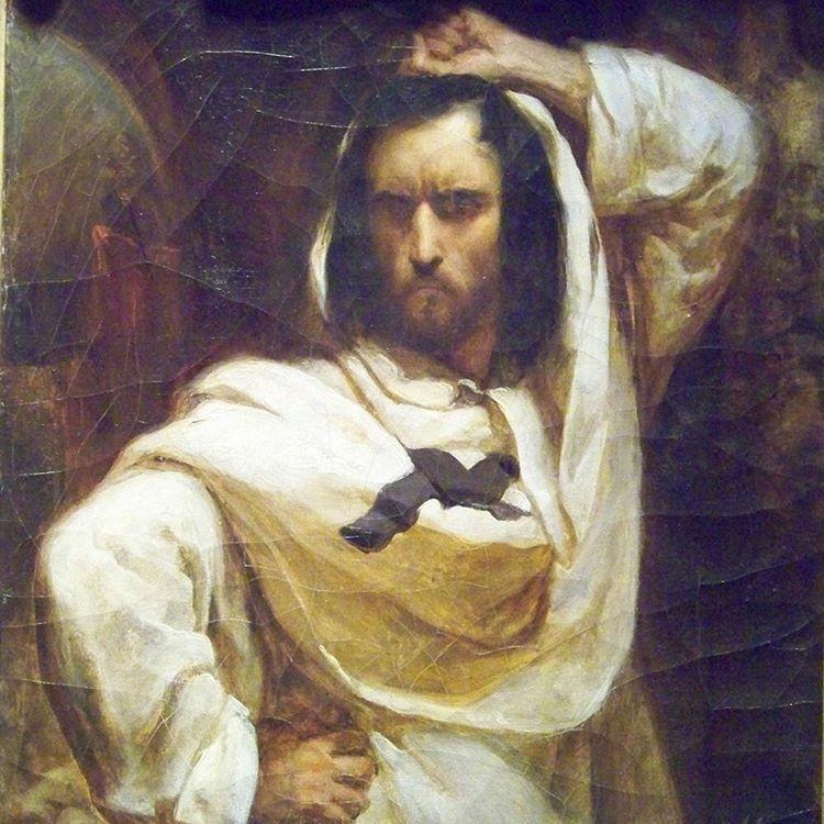 """Ary Scheffer (1795-1858). Le Giaour. Huile sur toile, 1832. D'après """"Le Giaour"""" de Lord Byron. Paris, musée de la Vie romantique. © Musée de la Vie Romantique / Roger-Viollet"""
