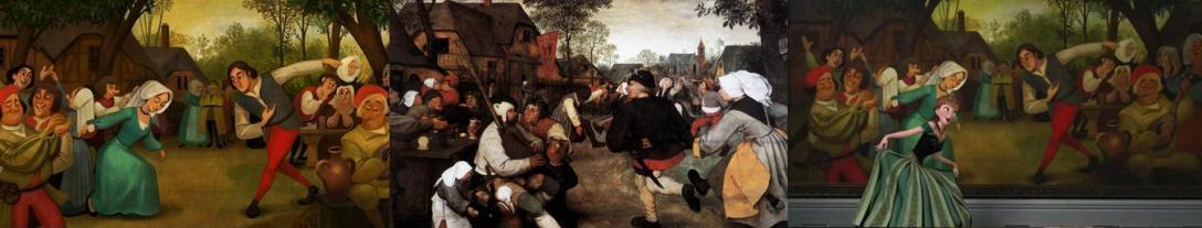 """""""Taniec wieśniaków"""", Pieter Bruegel Starszy, 1568 - 1569"""
