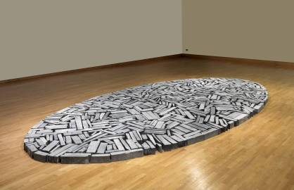 Cornish Slate Ellipse 2009 by Richard Long born 1945