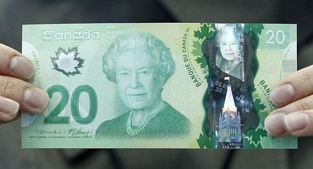 20 dolarów kanadyjskich. Wiek: 85 lat