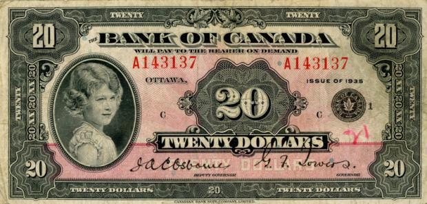 20 dolarów kanadyjskich. Wiek: 8 lat