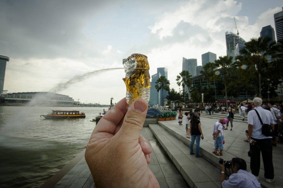 Statuetka Merliona, Singapur
