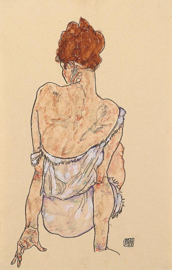 seated-woman-from-behind-egon-schiele