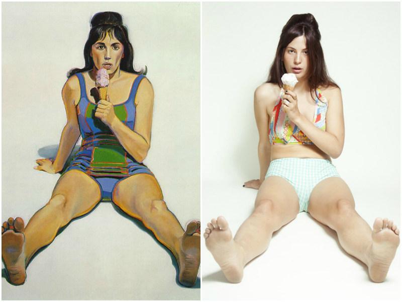 """""""Dziewczyna z lodem"""", Wayne Thiebaud"""