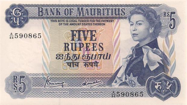 5 rupii maurutyjskich. Wiek: 29 lat