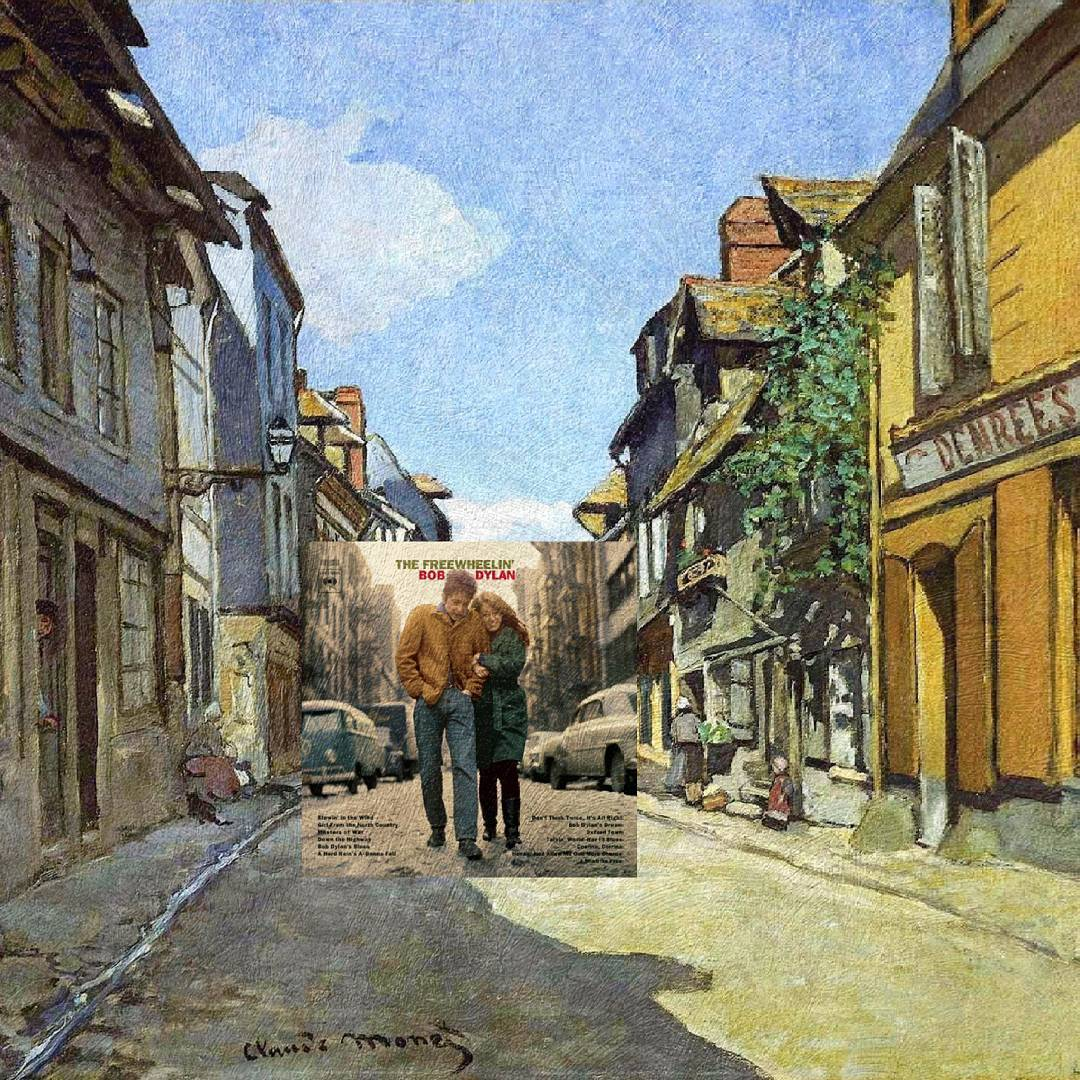 The Freewheelin', Bob Dylan + The La Rue Bavolle at Honfleur, Claude Monet