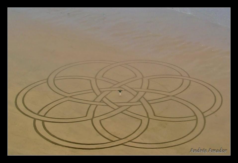 My largest geometric design. Ocean Beach, SF.