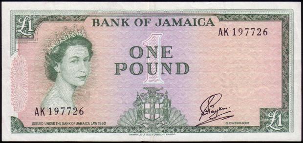 1 funt jamajski. Wiek: 26 lat