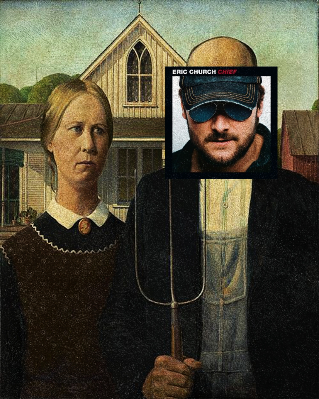 Chief, Eric Church + Amerykański gotyk, Grant Wood
