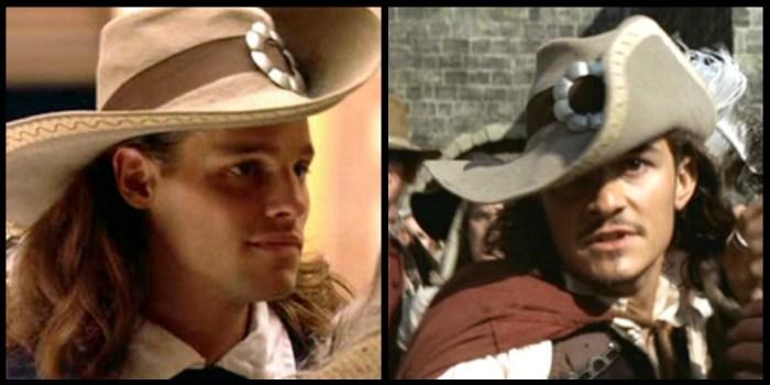 """Muszkieter (""""D'Artagnan"""", 2001 rok) czy pirat (""""Piraci z Karaibów: Klątwa Czarnej Perły"""", 2003 rok) - kapeluszowi nie robi to różnicy."""