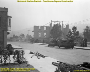 Rok 1950 - przebudowa budynku sądu w związku z budową dodatkowej ulicy w studio Universal