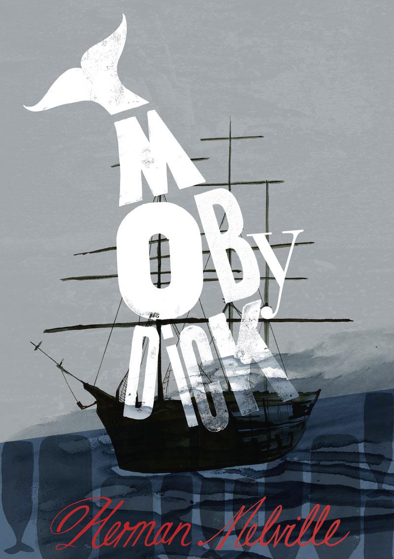 Typografia Moby Dicka jest monumentalna niczym sam wieloryb