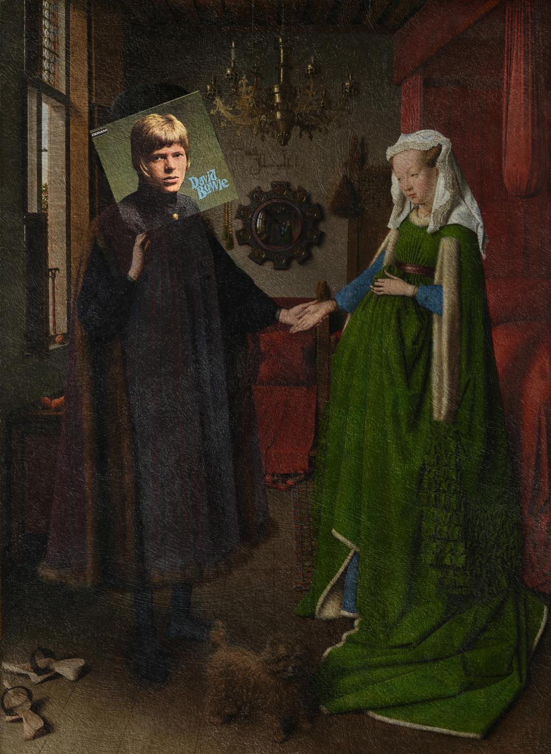 David Bowie + Portret małżonków Arnolfinich, Jan van Eyck