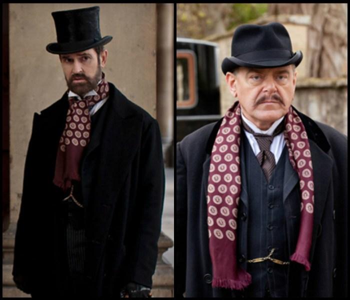 """Szal i kamizelka pojawiły się w ubiegłym roku w dwóch brytyjskich serialach: """"Parade's End"""" (lewa strona) i wspomnianym już """"Downton Abbey""""."""